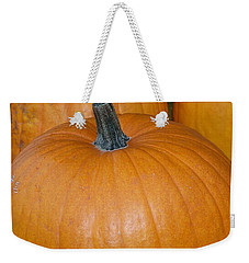 Weekender Tote Bag featuring the photograph Harvest Pumpkins by Chalet Roome-Rigdon