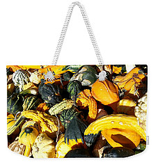 Weekender Tote Bag featuring the photograph Harvest Squash by Caryl J Bohn