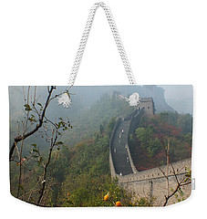 Harvest Time At The Great Wall Of China Weekender Tote Bag by Lucinda Walter