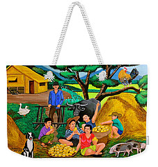 Weekender Tote Bag featuring the painting Harvest Time by Cyril Maza