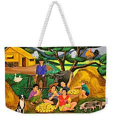 Harvest Time Weekender Tote Bag by Lorna Maza
