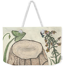 Weekender Tote Bag featuring the painting Harvested Beauty by Kim Pate