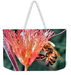 Weekender Tote Bag featuring the photograph Harvesting by Deb Halloran