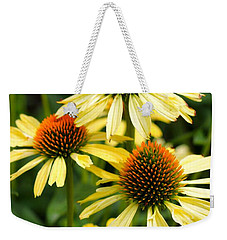 Harvest Moon Conehead Flower Weekender Tote Bag