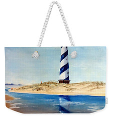 Hatteras Lighthouse Weekender Tote Bag by Lee Piper