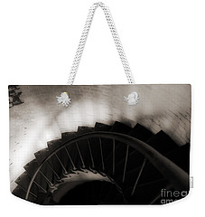 Weekender Tote Bag featuring the photograph Hatteras Staircase by Angela DeFrias