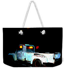 Weekender Tote Bag featuring the digital art Haunted Truck by Cathy Anderson