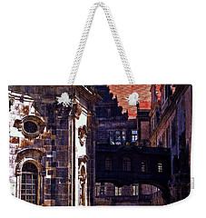 Weekender Tote Bag featuring the photograph Hausmann Tower In Dresden Germany by Jordan Blackstone