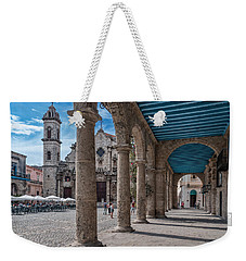 Havana Cathedral And Porches. Cuba Weekender Tote Bag