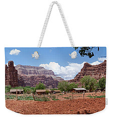 Weekender Tote Bag featuring the photograph Havasupai Village Panorama by Alan Socolik