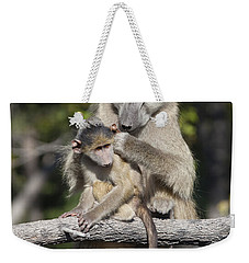 Weekender Tote Bag featuring the photograph Have You Cleaned Behind Your Ears by Liz Leyden