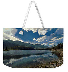 Weekender Tote Bag featuring the painting Haviland Lake by Jeff Kolker