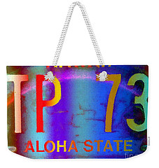 Hawaii Aloha State Weekender Tote Bag