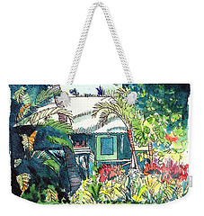 Weekender Tote Bag featuring the painting Hawaiian Cottage 3 by Marionette Taboniar
