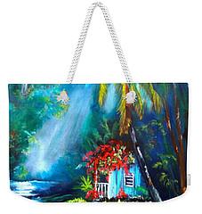 Hawaiian Hut In The Mist Weekender Tote Bag