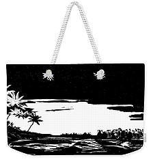 Weekender Tote Bag featuring the digital art Hawaiian Night by Anthony Fishburne