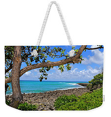 Weekender Tote Bag featuring the photograph Hawaiian Paradise by Kristine Merc