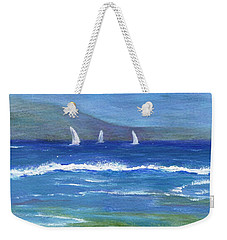 Weekender Tote Bag featuring the painting Hawaiian Sail by Jamie Frier