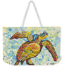 Weekender Tote Bag featuring the painting Hawaiian Sea Turtle 2 by Darice Machel McGuire