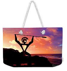 Hawaiian Silhouette Weekender Tote Bag