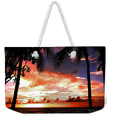Weekender Tote Bag featuring the photograph Hawaiian Sunset by Kristine Merc