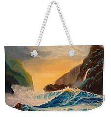 Hawaiian Turquoise Sunset   Copyright Weekender Tote Bag