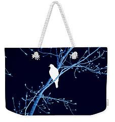 Hawk Silhouette On Blue Weekender Tote Bag