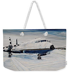 Hawker - Waiting Out The Storm Weekender Tote Bag by Marilyn  McNish