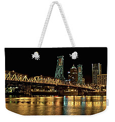 Hawthorne Bridge Over Willamette River Weekender Tote Bag