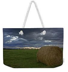 Hay Bail Weekender Tote Bag