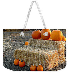 Weekender Tote Bag featuring the photograph Hay Steps by Michael Gordon