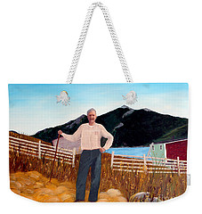 Haymaker With Pitchfork  Weekender Tote Bag