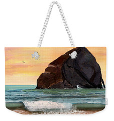 Haystack Rock At Kiwanda Weekender Tote Bag