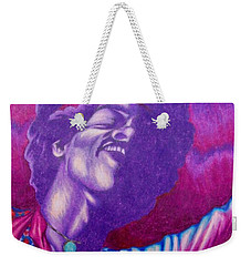 Weekender Tote Bag featuring the drawing Haze by Michael  TMAD Finney