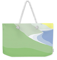 Hazy Coastline Weekender Tote Bag
