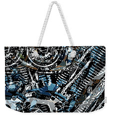 Abstract V-twin Weekender Tote Bag