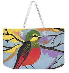 Weekender Tote Bag featuring the painting He Aint That Tweet by Kathleen Sartoris