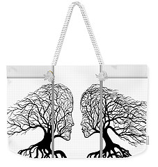 He And She In Love Triptych Acrylic On Canvas Weekender Tote Bag