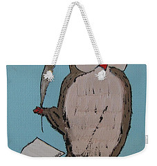 He Can Write And Read Weekender Tote Bag