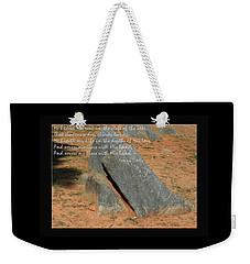 He Hideth Me In The Cleft Fanny Crosby Hymn Weekender Tote Bag