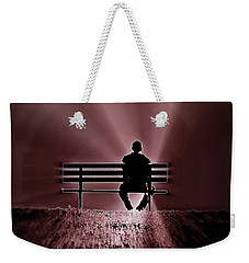 He Spoke Light Into The Darkness Weekender Tote Bag by Micki Findlay