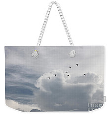 Weekender Tote Bag featuring the photograph Heading Home by Todd Blanchard