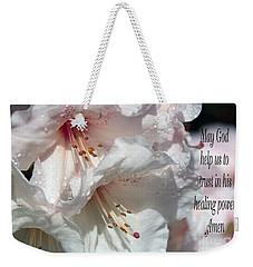 Weekender Tote Bag featuring the photograph Healing Power by Jean OKeeffe Macro Abundance Art