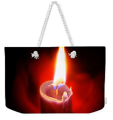 Heart Aflame Weekender Tote Bag by Sennie Pierson