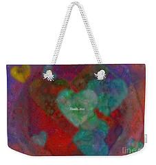 Heart Glow Weekender Tote Bag