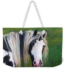 Weekender Tote Bag featuring the painting Heart by Karen Kennedy Chatham