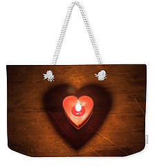 Weekender Tote Bag featuring the photograph Heart Light by Aaron Aldrich