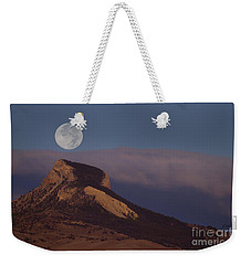 Heart Mountain And Full Moon-signed-#0325 Weekender Tote Bag
