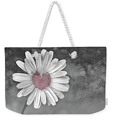 Heart Of A Daisy Weekender Tote Bag by Linda Sannuti