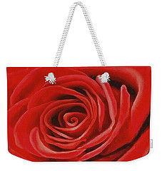 Heart Of A Red Rose Weekender Tote Bag